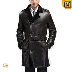 Designer Sheepskin Shearling Mens Coat CW868905 #sheepskin #mens #coat
