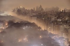 Nature_meets_new_york.jpg (JPEG Image, 1200 × 798 pixels) #fog #city #lights #park #night #mist #central #york #nyc #forest #new