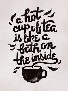 Hot Tea / Typography by WEAREYAWN