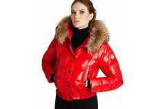 Moncler Women Alpin Down Jackets Red #fashion