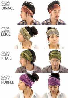 Rakuten: The Rayon Marble, from the Arrange Series. Outdoor headband for sport and casual wear with elastic properties Shopping Japanese pr #bandana