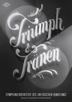 Typeverything.comPoster (5 of 13) from a campaign for the Bavarian Radio Symphony Orchestra by Mirko Borsche. #vintage #typography