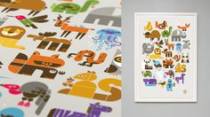 Wee Alphas Limited Edition Screen Print