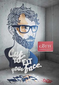 Cut to fit your face: Götte Customized Eyewear #inspiration #illustration #advertising