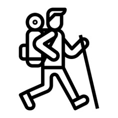 See more icon inspiration related to mountain, hiking, trekking, walking, people, holidays and sports and competition on Flaticon.