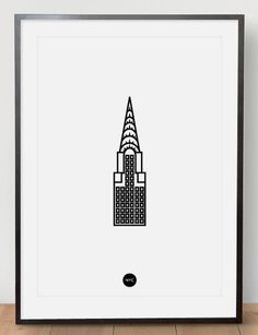 Image of Chrysler Riso Print White