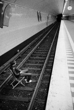 FFFFOUND POUND • He couldn't see the light in the tunnel and there... #tunnel #photography