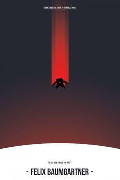 Felix Baumgartner Poster   Stephen Calvillo Design #design #graphic #baumgartner #poster #felix