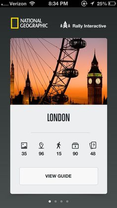 City Guides by Nationa... #iphone #ui