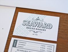 Erik Anthony Hamline #seaward #bakery #graphic #identity