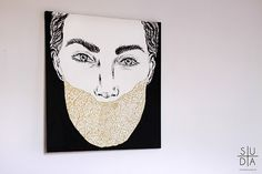 www.mateuszsuda.com contact: mateusz.suda@gmail.com #suda #mateusz #paiting #black #muzzle #piting #women #acril #mateuszsudacom #gold #art #fashion #oli