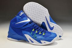 White Nike Shoes Zoom Lebron Soldier Viii 8 Ocean Blue Special Hot