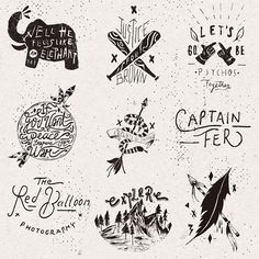 Logos & hand draws on Behance by Nicolás Crespo
