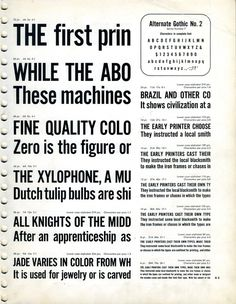 Alternate Gothic type specimen #type specimen