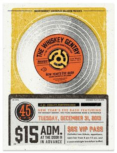 The Whiskey Gentry - NYE Gig Poster