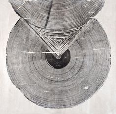 neat graphic using wood #woodblock #print