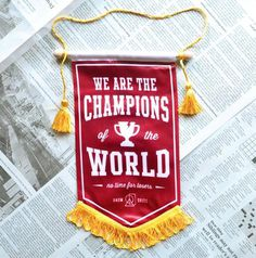 CHAMPIONS BANNER by Random Objects