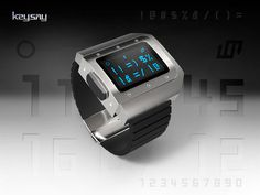 Keysay Watch #design #futuristic #gadget #industrial #concept #art