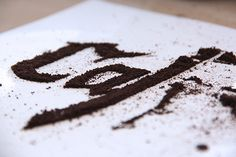 CJWHO ™ (Cafégrafia | Coffee type experiment by Marina...) #design #illustration #art #coffee #type #experiment #typography