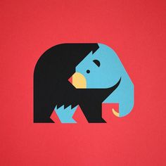 Bear Illustration by Always With Honor #illustration #animal #bear #geometric #icon #iconic