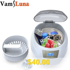Ultrasonic #Bath #Cleaner #750ML #for #Cleaning #Nail #tools # #Eyeglasses # #Watches # #Rings
