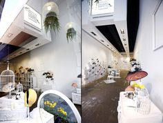 Head Over Heels Pop up stores by U LA LA Events, Madrid, Barcelona store design #white