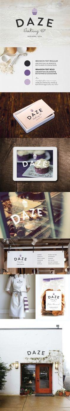 Daze Baking Company | Branding and Identity #branding #design #identity #baking #logo #typography