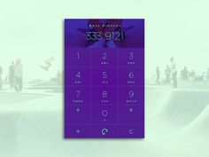#challenge #daily100 #dialer #green #interface #phone #skate #ui #ux #violet #widget