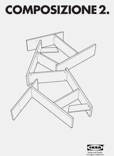 Composizione 2, by Andreas Gysin & Sidi Vanetti #inspiration #creative #design #graphic #composition #ikea #poster #gray