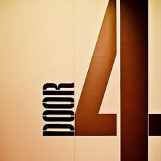 Cuba Gallery: Melbourne Exhibition Centre / Typography / Design | Flickr - Photo Sharing! #signage #type #door #found