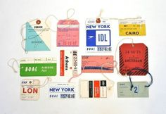 WANKEN - The Blog of Shelby White » Vintage Airline Tags #baggage #tags #vintage #airline