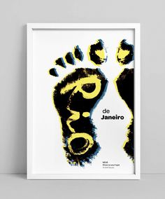 NEUE Show Us Your Type – Posters on Behance #ink #foot #rio #de #poster #janeiro #feet #typography