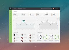 Dashboard by Aaron Sananes #simple #flat #dashboard #ui #minmalist