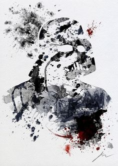 Abstract Paint Splatters of Familiar Star Wars Characters - My Modern Metropolis #darth #vader