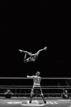 lucha libre wrestling black and white
