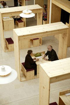 simple object designed for interaction vs privacy inside a semi-public space #interior #timber #spaces #simple #wood #architecture #designed
