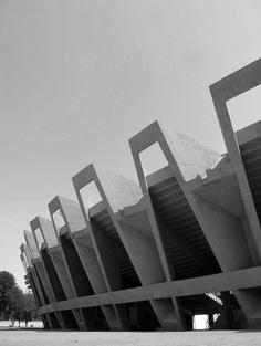Charles Correa | Sardar Vallabhbhai Patel Stadium, 1965 Ahmedabad.