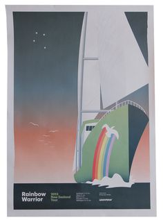 Greenpeace Rainbow Warrior 2013 – Walter Hansen #graphik #design #greenpeace #poster