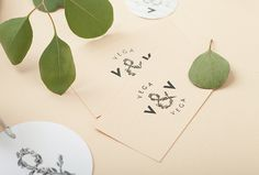 Vega & Vega by Menta . #mark #nature #flowers #stationary #print #graphic #design
