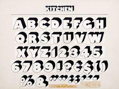Container List: A brief tour of Milton Glaser's typography #typography #kitchen #typeface #vintage #glaser #milton