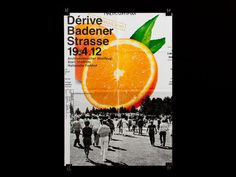 ATLAS, studio for graphic design, Zurich/Switzerland #collage #orange #poster