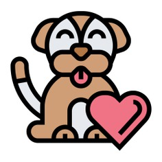 See more icon inspiration related to dog, pet, animal, heart, canine, charity, puppy, love and animals on Flaticon.