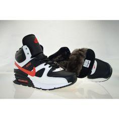 Nike Air Max 90 Black Black High Cut Shoes Fur for Winter White