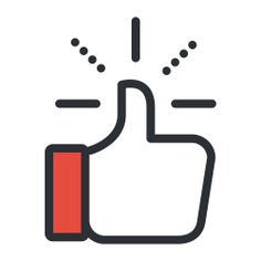 See more icon inspiration related to like, thumb up, finger, hands, hands and gestures and gestures on Flaticon.