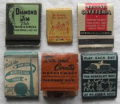 All sizes | 1930s & 1940s Vintage Matchbooks | Flickr - Photo Sharing!