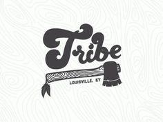 Dribbble - Tribe tee Concept by Nick Slater #logo #hatchet #tribe #nick slater