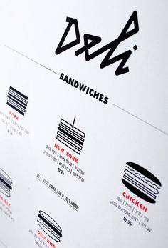 Morey Talmor – Graphic Design | DELI #illustration #icons #iconography #menu