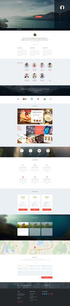 Cahara Onepage Wordpress Theme by Charlie Isslander #web design #web site #wordpress theme #landing page
