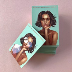 Adele Leyris—Spot UV Business Cards