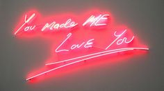 Tracey Emin | PICDIT #sculpture #installation #pink #vibrant #colour #art #light #neon